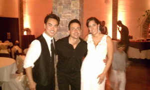 Los Angeles Wedding DJ The Grand Long Beach Event Center photo with couple