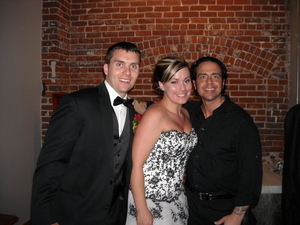 The mitten building Redlands bride and grrom rockstar photo with DJMC IAN B