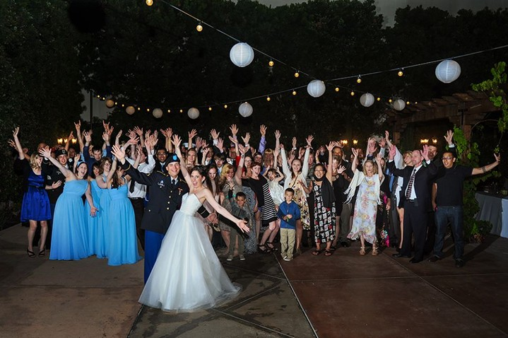 Wedding DJ Franciscan Gardens San Juan Capistrano CA Group photo Orange County