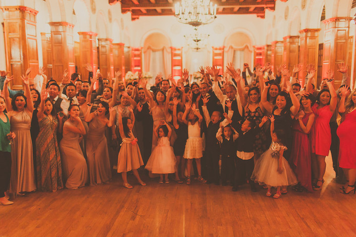 Los Angeles Wedding DJ The Park Plaza Hotel Group Photo